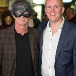 Kevin Thornton and Cian O'Broin enjoying the mask filled streets of Galway