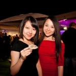 Nicole and Khloe Huang (China) Enjoying Opening night of the 59th Galway Oyster Festival - photo Julia Dunin (Custom)