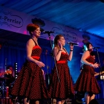 Papazita's motown band entertaining visotors at the Galway Oyster Festival