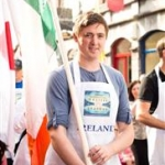 Stephen Nolan new Irish Oyster Champion representing Ireland in the parade of flags as part of the 59th Galway Oyster Festival - photo Julia Dunin (Custom)