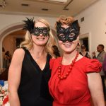 Diana Hogan Murphy and Olivia King pictured at the Galway International Oyster and Seafood Festival, Masquerade Ball. Photo: Boyd Challenger
