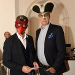 David Appbucra and Andy Batchelor pictured at the Galway International Oyster and Seafood Festival, Masquerade Ball. Photo: Boyd Challenger