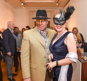 Rick and Abi Comber pictured at the Galway International Oyster and Seafood Festival, Masquerade Ball. Photo: Boyd Challenger