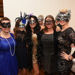 Alicia Gagne, Nevon Bobb, Rebecca Gagne. Jennifer Wagner and  Elizabeth Gagne pictured at the Galway International Oyster and Seafood Festival, Masquerade Ball. Photo: Boyd Challenger