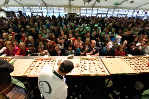 Galway International Oyster Festival was in full swing all weekend in The Claddagh. Photo: Boyd Challenger